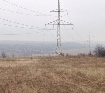 February 25, a damaged power line near Avdiivka. Credit: FB zhebrivskyi