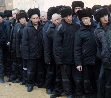 Underage prisoners at a Russian prison (Image: rufabula.com)