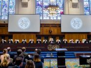 The International Court of Justice (ICJ) holds hearings in the case concerning the Application of the International Convention for the Suppression of the Financing of Terrorism and of the International Convention on the Elimination of All Forms of Racial Discrimination (Ukraine v. Russian Federation) from 6 to 9 March 2017, at the Peace Palace in The Hague, the seat of the Court. Copyright: UN Photo/ICJ-CIJ/Frank van Beek
