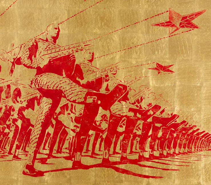 «The Victory Day Parade in 2937 (XII)» by Russian artist Alexey Belyayev-Gintovt (Image: doctrine.ru)
