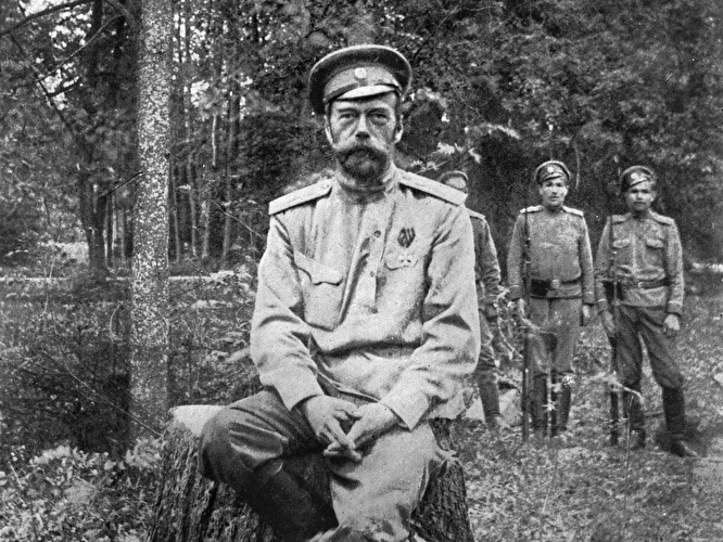 Nicholas II, the last Russian tsar, after his forced abdication