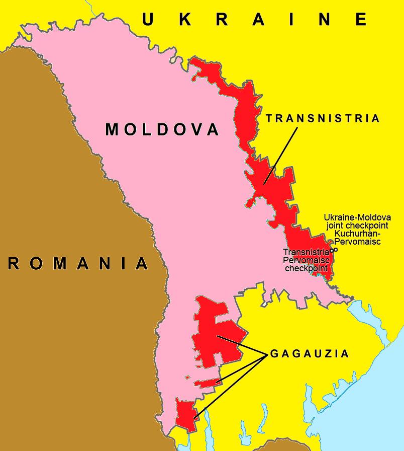 Ukraine Helps Moldova Regain Control Over Border In Transnistrian - Transnistria map