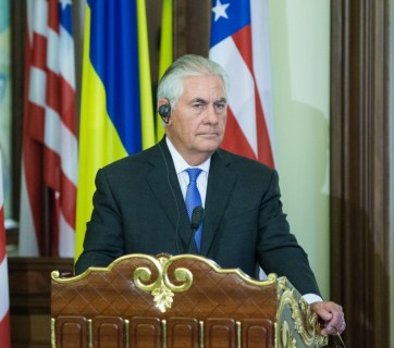 Rex Tillerson during his vising to Kyiv. Photo: president.gov.ua