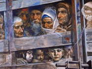 """The Train of Death"" by Rustem Eminov is dedicated to the memory of Crimean Tatar women, men, and children who did not survive the brutal state-organized expulsion from Crimea in 1944. Source: may18.net"