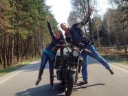 Monty and Natasha, American and Ukrainian, motorcycle enthusiast and travel journalist, have set on a journey to discover Ukraine with one motorcycle and one summer. Photo: fb.com/Ukraineinsideout