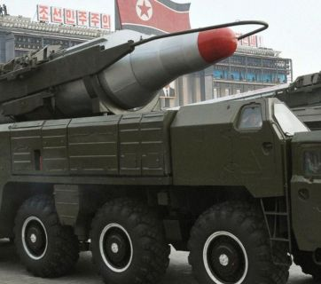North Korean missile Hwasong-10 (also known as BM-25 and Musudan)