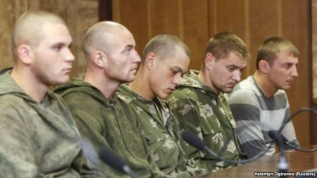 Russian paratroopers detained in the DOnbas, August 2014