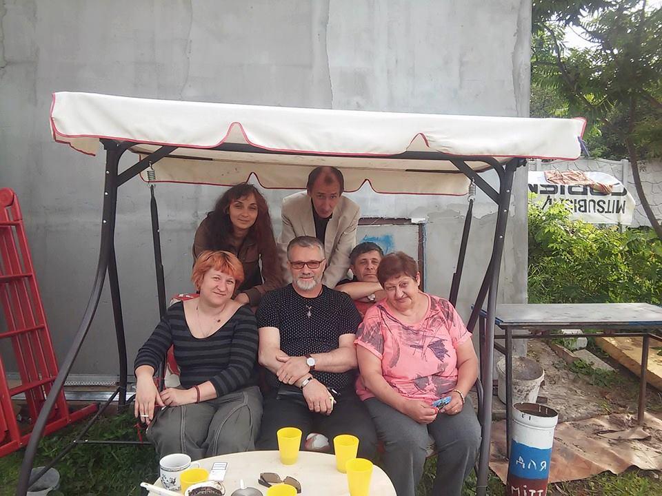 With Volunteer Natalia Shetilova from Derkachi