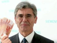 Siemens' CEO Joe Kaesar. Photocollage by Euromaidan Press