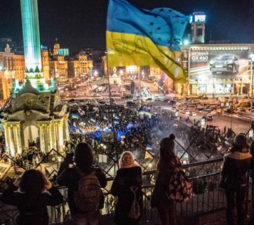 During the Euromaidan protests in December 2013