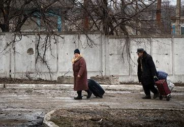 Donetsk locals. Photo: AFP