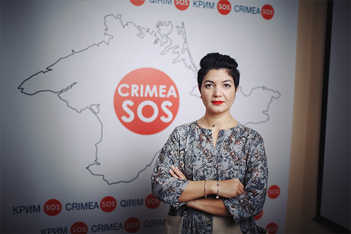 Crimea SOS has five branches which work in 17 regions of Ukraine. More than 50 employees take part in the projects. Tamila Tasheva (pictured) leads the organization. Photo: life.pravda.com.ua