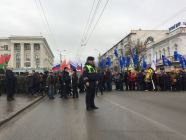 Demostration in occupied Simferopol. Photo: Madeline Roache