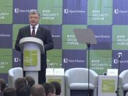 Ukrainian President Poroshenko at the 2018 Kyiv Security Forum. Photo: snapshot from video