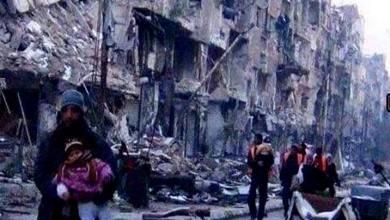 Photo of مخيم اليرموك … سيأتي  سيأتي الوفاء .. بالماء والغذاء ..