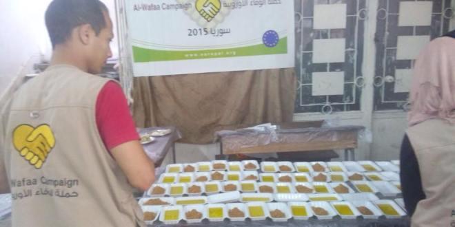 حملة الوفاء الأوروبية تكفل العائلات النازحة من اليرموك