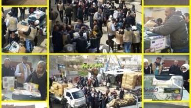 Photo of حملة الوفاء توزع مساعداتها على النازحين في قدسيا