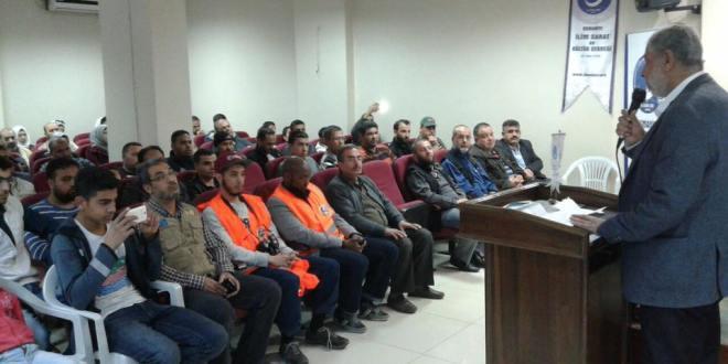 الوفاء الأوروبية تصل العثمانية واسكندرون وتقدم مساعدات اغاثية للاجئين الفلسطينيين