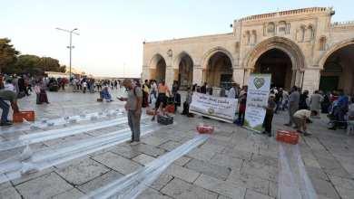 Photo of حملة الوفاء الأوروبية تقيم افطارا رمضانيا في المسجد الأقصى المبارك