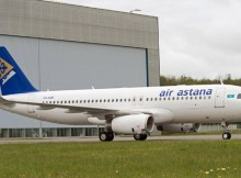 Air Astana Airbus A320 with sharklets
