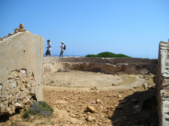 Hikers at Cap de Cavalleria