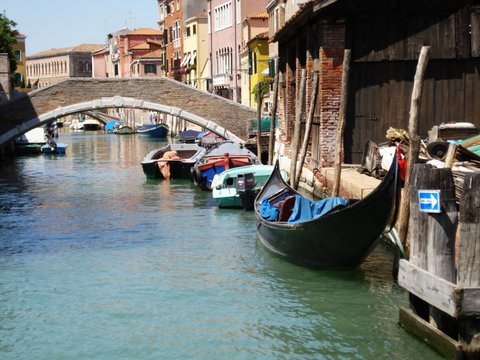 Boats in a Venice Canal