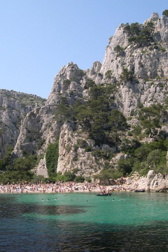 The Calanques on the Mediterranean