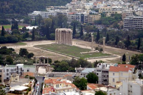View of Olympian Zeus and Hadrian's Arch