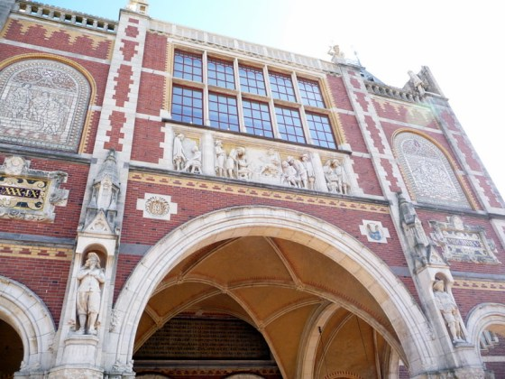 Detail at entrance to Rijksmuseum