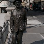 James Joyce statue by the Canal Grande