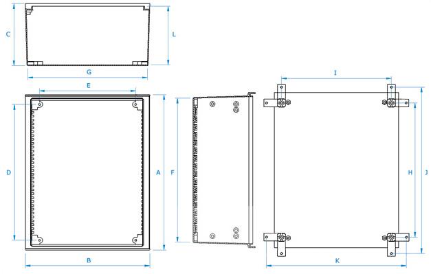 armoires coffrets polyester mini euro plan