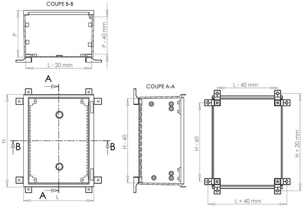 armoires coffrets polyester mini euro plan2