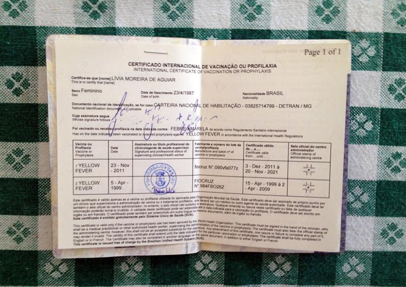 Febre Amarela - onde e como emitir o certificado internacional de vacinação