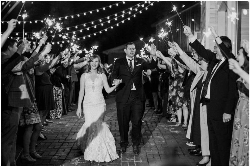 Wheeler House Photographer Wedding Sparkler Exit