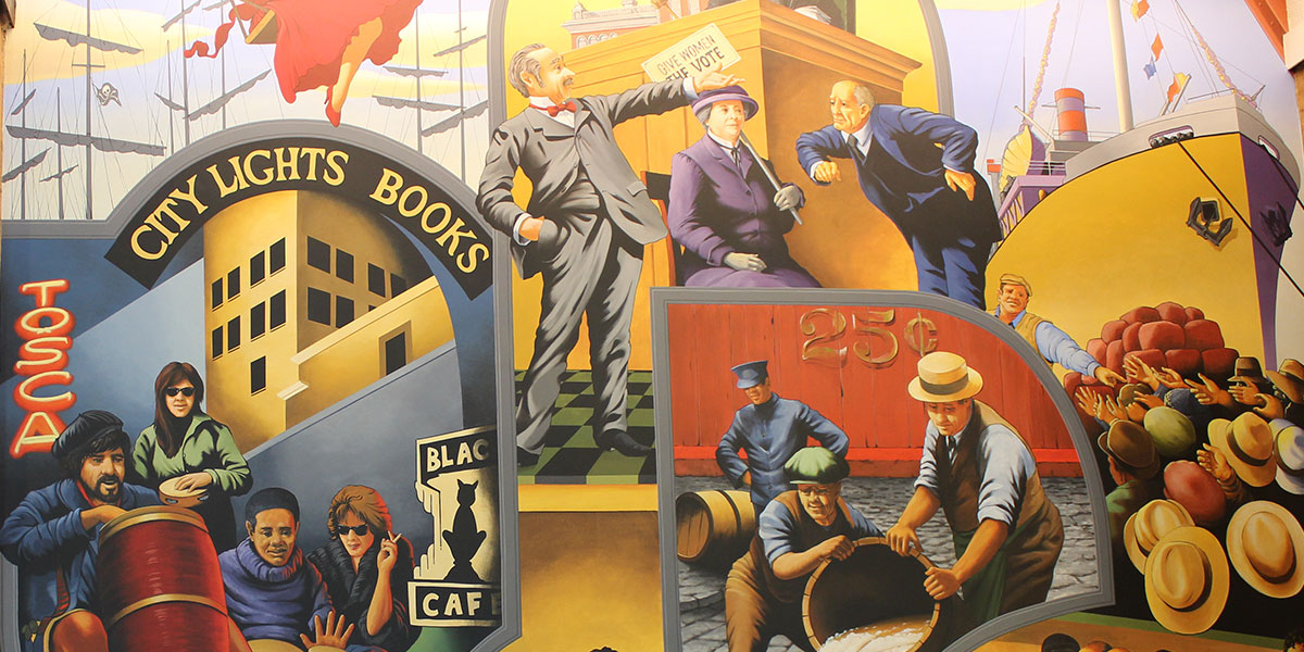 Barbary Coast | Evans & Brown mural art