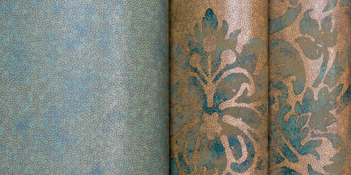Wallcovering designed by Evans & Brown