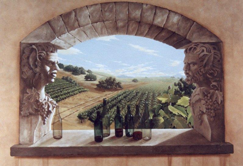Private wine cellar | Evans & Brown mural art