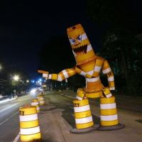 Traffic cone monster