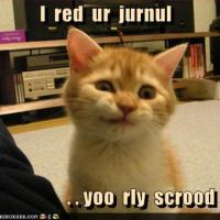 I read your journal...