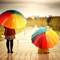 Cute: Rainbow Umbrella