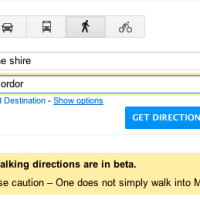 Google Maps Easter Egg: Walk into Mordor