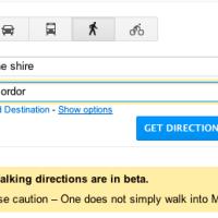 Google Maps Easter Egg: Walk into Mordor