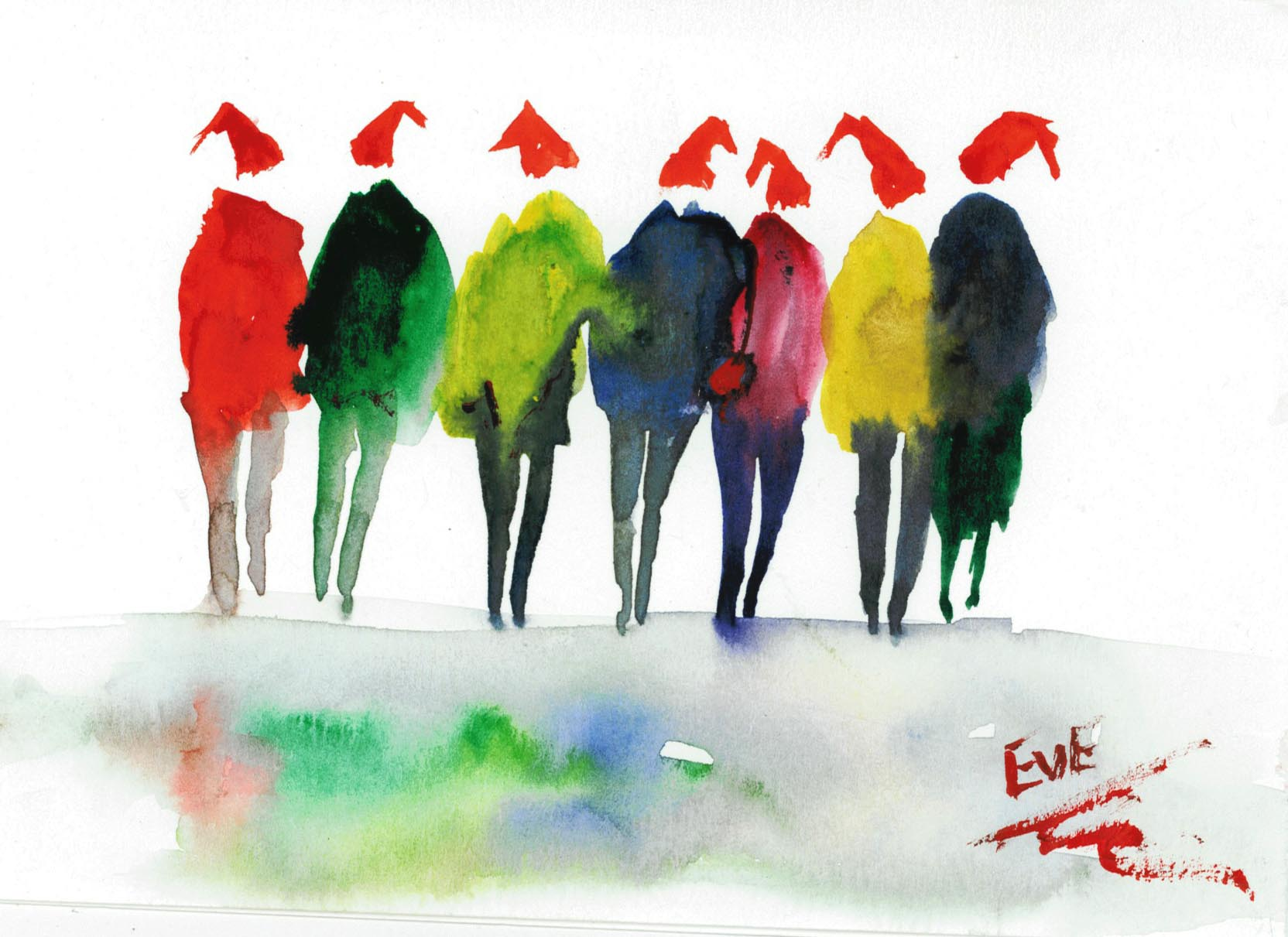Fullsize Of Watercolor Christmas Cards