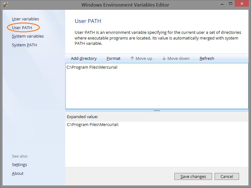 User Path Editor