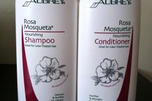 My Favorite Moisturizing Shampoo and Conditioner:  Aubrey Rosa Mosqueta