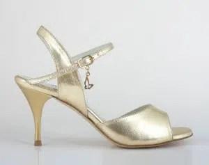 Chaussures de tango femmes marque Turquoise shoes - Modèle M32 Gold