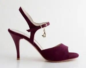 Chaussures de tango femmes marque Turquoise shoes - Modèle M44 Burgundy