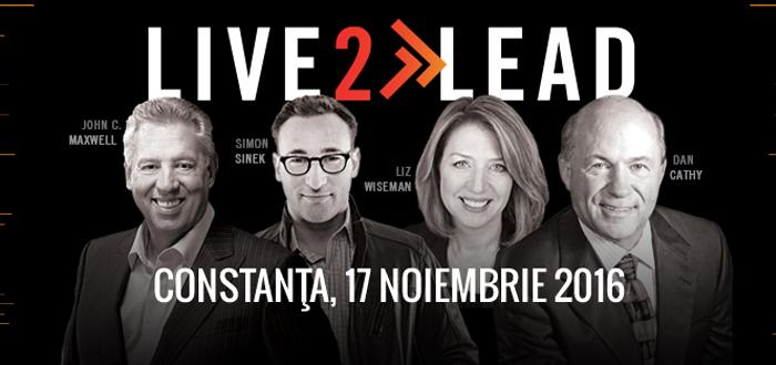 Conferinţa de leadership, LIVE2LEAD. Celebrul JOHN MAXWELL, prin videocast la Constanţa!