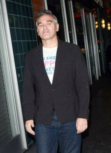 Morrissey sneaking to the shops to buy bacon