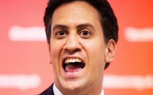 "Miliband in his ""idiot"" costume"